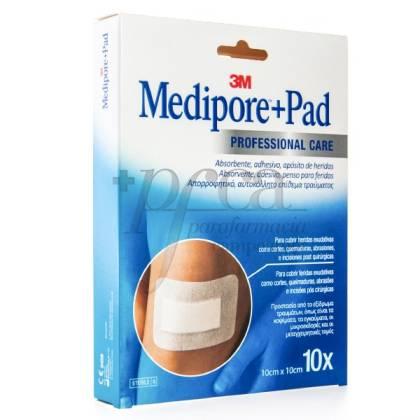 MEDIPORE+PAD 10 CM X 10 CM 10 APOSITOS