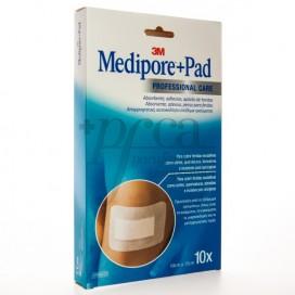 MEDIPORE+ PAD 10 X 15 CM 10 STICKING PLASTERS