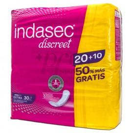 INDASEC DISCREET EXTRA 20+10 SANITARY PADS PROMO
