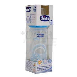 CHICCO BIBERON FISIO 250ML AZUL REGULABLE 2M