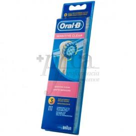 ORAL-B RECAMBIO CEPILLO SENSITIVE 3 U