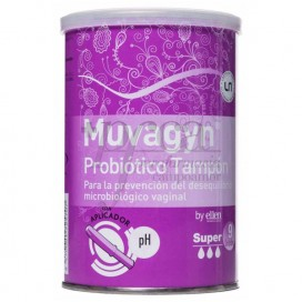 MUVAGYN PROBIOTIC SUPER TAMPON WITH APPLICATOR 9 TAMPONS