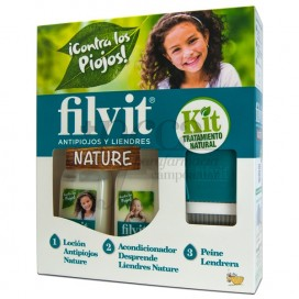 FILVIT KIT NATURE LOTION + CONDITIONER 125 ML + COMB