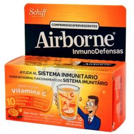 AIRBORNE 10 COMPS CON VITAMINA C SABOR NARANJA