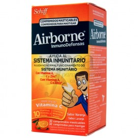 AIRBORNE 32 COMPS MASTICABLES CON VITAMINA C SABOR NARANJA