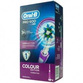 CEPILLO ORAL B PRO 600 CROSS ACTION MORADO