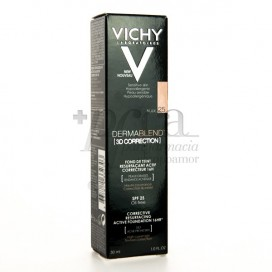 VICHY DERMABLEND 3D CORRECTION SPF25 OIL-FREE N25 30ML