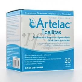 ARTELAC 20 TOALLITAS ESTERILES LIMPIEZA PARPADOS