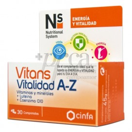 N+S VITANS VITALIDADE A-Z 30 COMPRIMIDOS