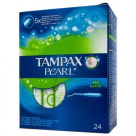TAMPAX PEARL TAMPON 100%ALGODON SUPER 24 U