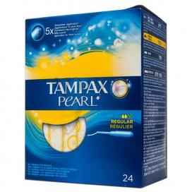 TAMPAX PEARL REGULAR 24 TAMPONES