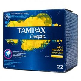 TAMPAX COMPAK REGULAR 22 TAMPONS