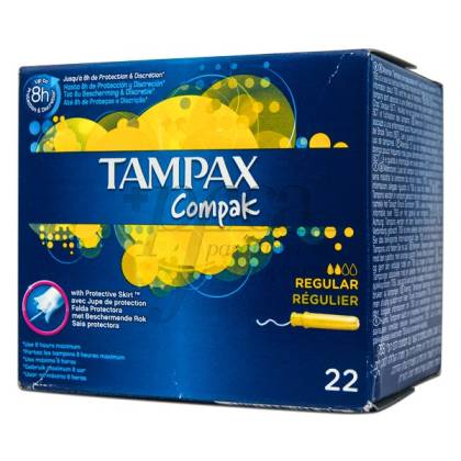 TAMPAX COMPAK REGULAR 22U