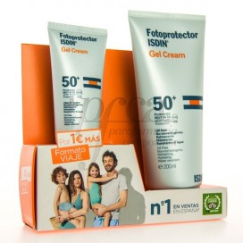 ISDIN GEL CREAM SPF50 200+50ML PROMO PACK VIAJE