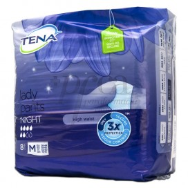TENA LADY PANTS NIGHT T/M 8 UDS
