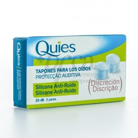 QUIES SILICONE EARPLUGS ANTI-NOISE 6 UNITS
