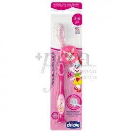 CHICCO TOOTHBRUSH 3-6 YEARS PINK