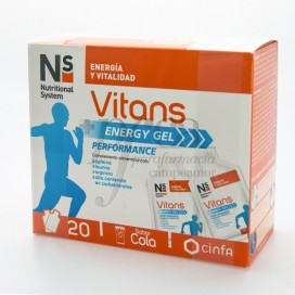 NS VITANS ENERGY GEL 20 SOBRES COLA