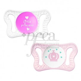 CHICCO MICRO PACIFIER SILICONE PINK 2 UNITS 0-2M
