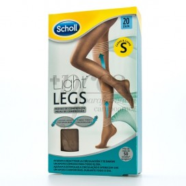 SCHOLL TIGHTS E.T LIGHT COMPRESSION 20 DEN SKIN COLOR SMALL SIZE