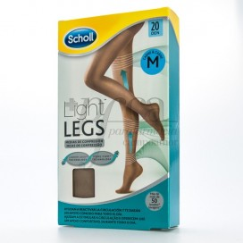 SCHOLL TIGHTS E.T LIGHT COMPRESSION 20 DEN SKIN COLOR MEDIUM SIZE