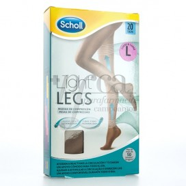 SCHOLL TIGHTS E.T LIGHT COMPRESSION 20 DEN SKIN COLOR LARGE SIZE