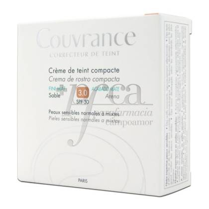 COUVRANCE CREMA COMPACTA SPF30 MATE 3 ARENA
