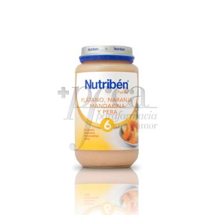 NUTRIBEN PLÁTANO NARANJA MANDARINA Y PERA 250 G