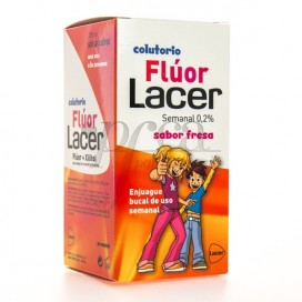 LACER FLUOR 0,2 STRAWBERRY WEEKLY MOUTHWASH 100 ML