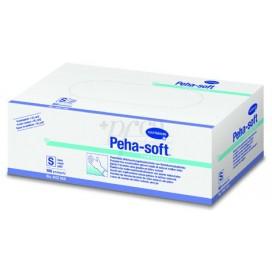PEHA-SOFT POWDER FREE LATEX GLOVES SMALL SIZE 100 UNITS HARTMANN