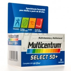 MULTICENTRUM SELECT 50 30 COMPRIMIDOS