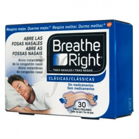 BREATHE RIGHT TIRA NASAL PEQ-MED 30 UND