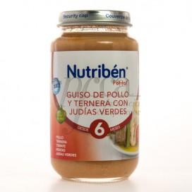 NUTRIBEN GUISO POLLO TERNERA JUDIAS VERDES 250G