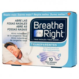 BREATHE RIGHT 10 TRANSPARENT NOSE STRIPS S LARGE