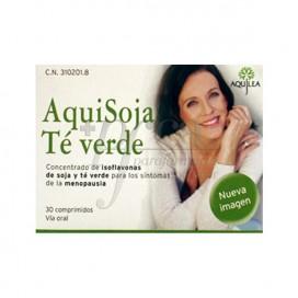 AQUISOJA GREEN TEA 30 TABLETS