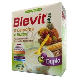 BLEVIT PLUS DUPLO 8 CEREALES CON FRUTA 2 X 300 G