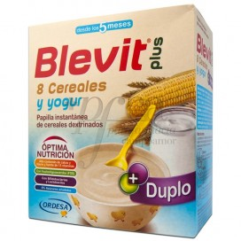 BLEVIT PLUS DUPLO 8 CEREALES CON YOGURT 2 X 300 G