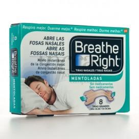 TIRAS NASALES BREATH RIGHT MENTOLADAS  GR 8 UDS