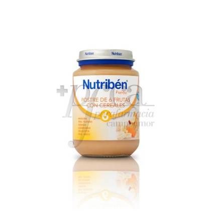 NUTRIBEN POSTRE 6 FRUTAS CEREALES 200 G
