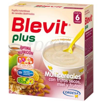 BLEVIT PLUS MIEL FRUTOS SECOS FRUTAS MULTIC 300G