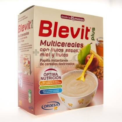 BLEVIT PLUS MULTICEREALES MIEL FRUTA 600G