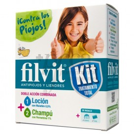 FILVIT LOCÃO CHAMPÔ ANTI-PIOLHOS KIT 100ML+100ML