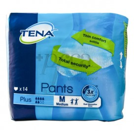 TENA PANTS PLUS TALLA M 14 U