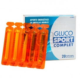 GLUCOSPORT COMPLET 20 DRINKABLE AMPOULES