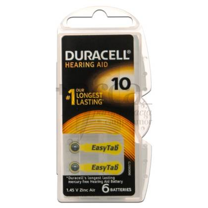 DURACELL AUDIFONO DA 10 N6 6 PILAS