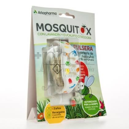 MOSQUITOX 1 PULSERA + 2 RECAMBIOS NIÑOS 3A+