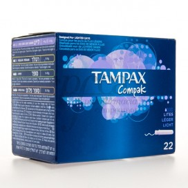TAMPONES TAMPAX COMPACK LIGERAS 22U