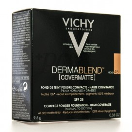 VICHY DERMABLEND COVERMATTE POLVO 9,5G TONO 45