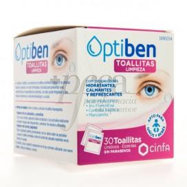OPTIBEN TOALLITAS LIMPIEZA OCULAR 30 UDS