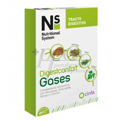 N+S DIGESTCONFORT GASES 60 COMPS
